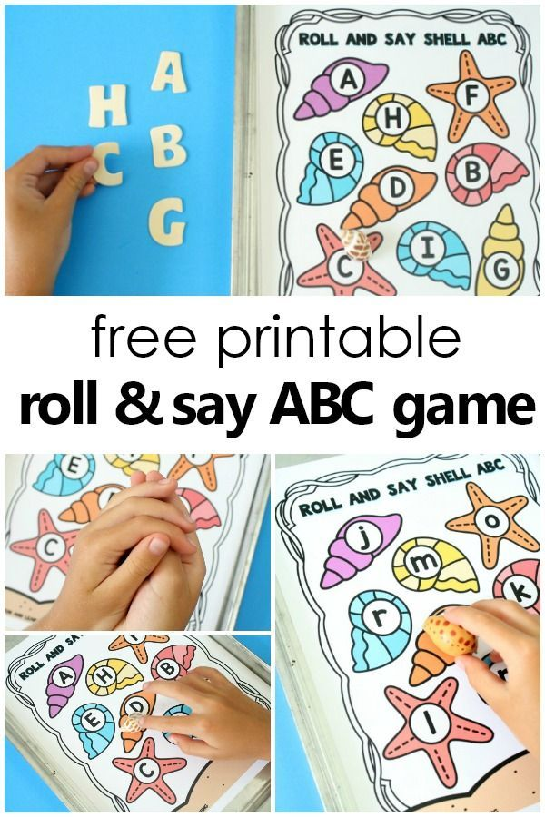 Roll and Say Summer ABC Game Preschool music activities