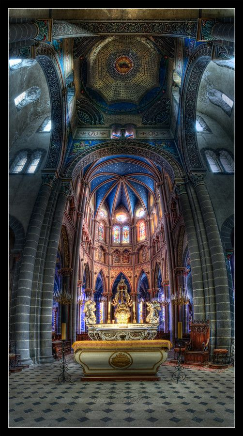 Basilique Saint-Amable by gael photo.com on 500px - Riom - Puy de Dome - France
