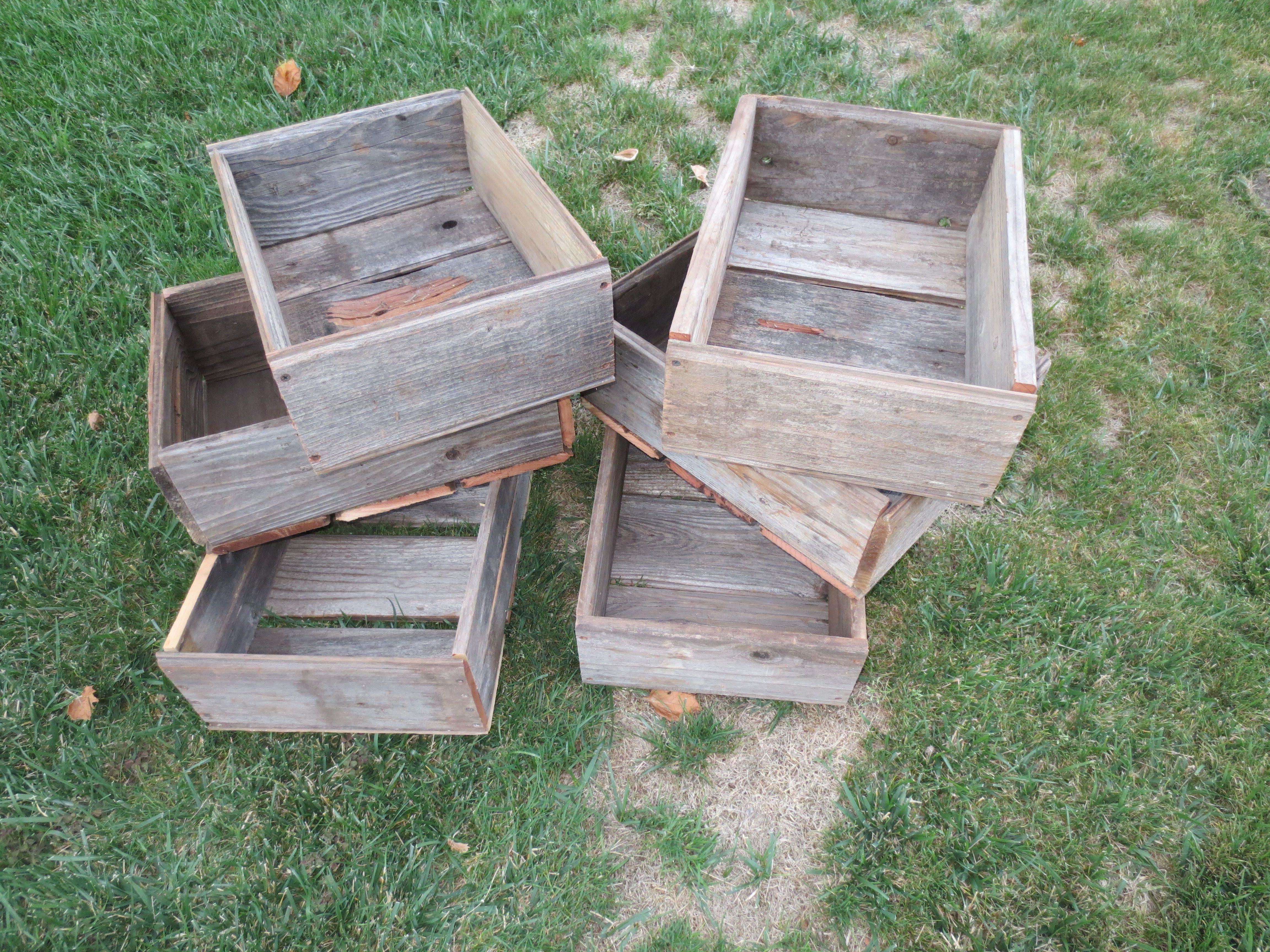 Fruit Boxes For The Fair Projects Made From Old Fence Boards