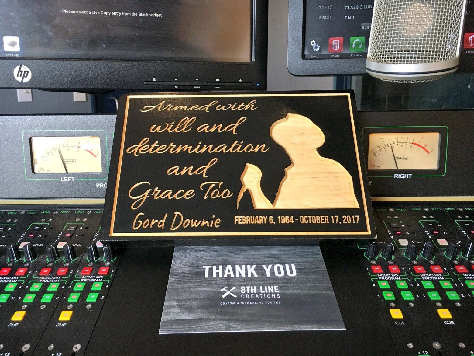 Gord Downie Memorial Sign By 8th Line Creations Wood Carved Signs