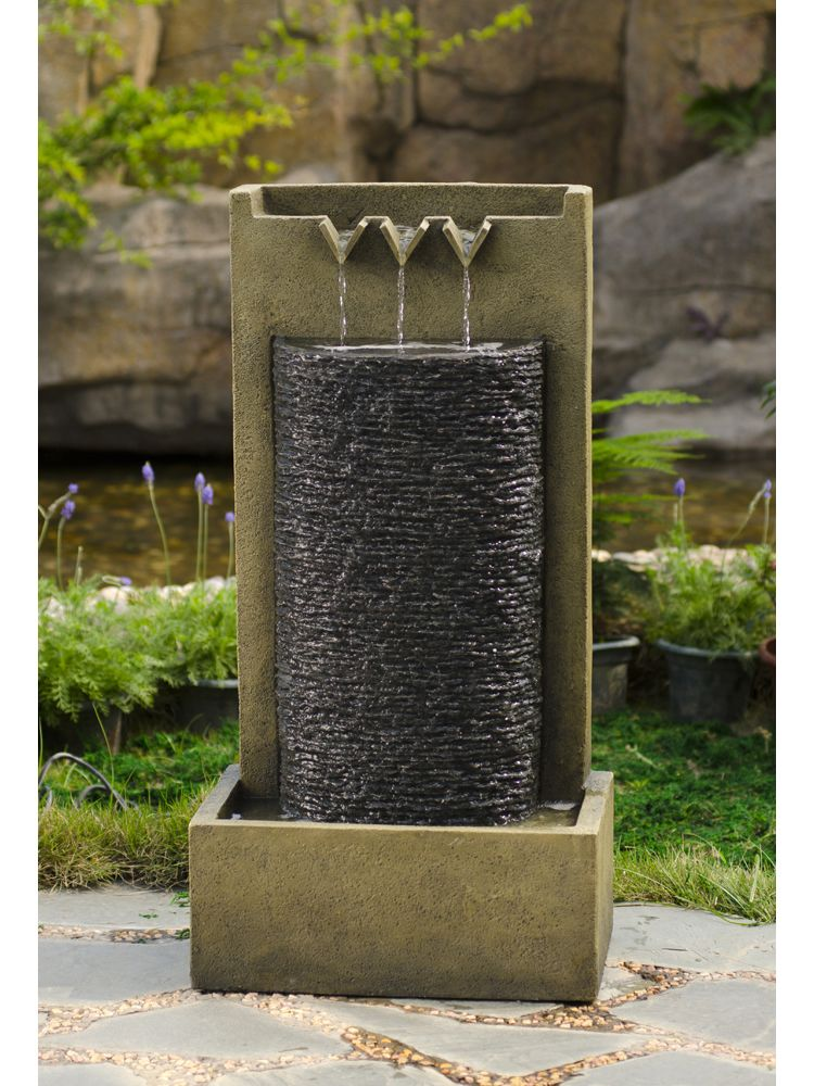 Floor wall inspired stone water fountain for indoor and for Outdoor wall fountains