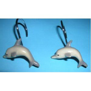 Dolphin Cove Shower Curtain Rings Hooks 1495
