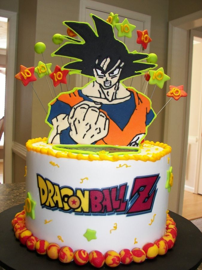 sun goku dragon ball z birthday cake
