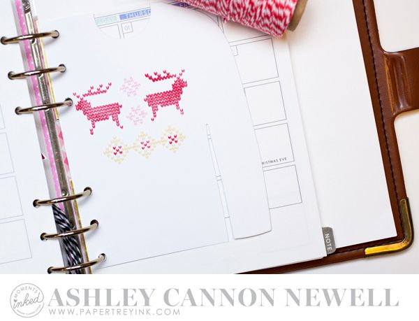 December Fair Isle Sweater Dashboard by Ashley Cannon Newell for Papertrey Ink (October 2016)