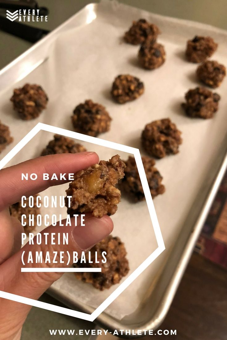 Coconut chocolate protein amazeballs omg these are so