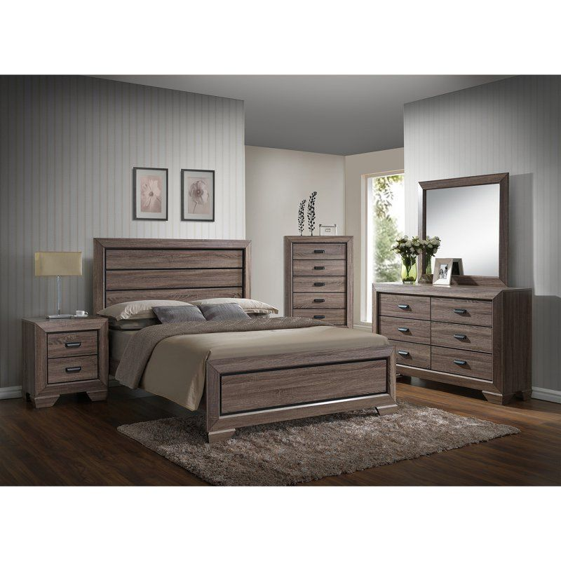 K&B Furniture Light Brown Wood Bedroom Chest B2185 C