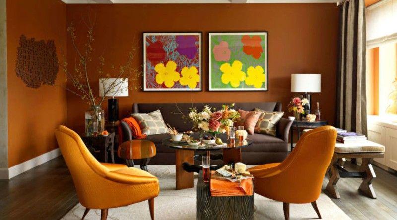 Modern How to Decorate with Orange to Stylishly Warm Up Any Room s · Orange Paint ColorsOrange Idea - Luxury Warm Yellow Paint Colors Unique
