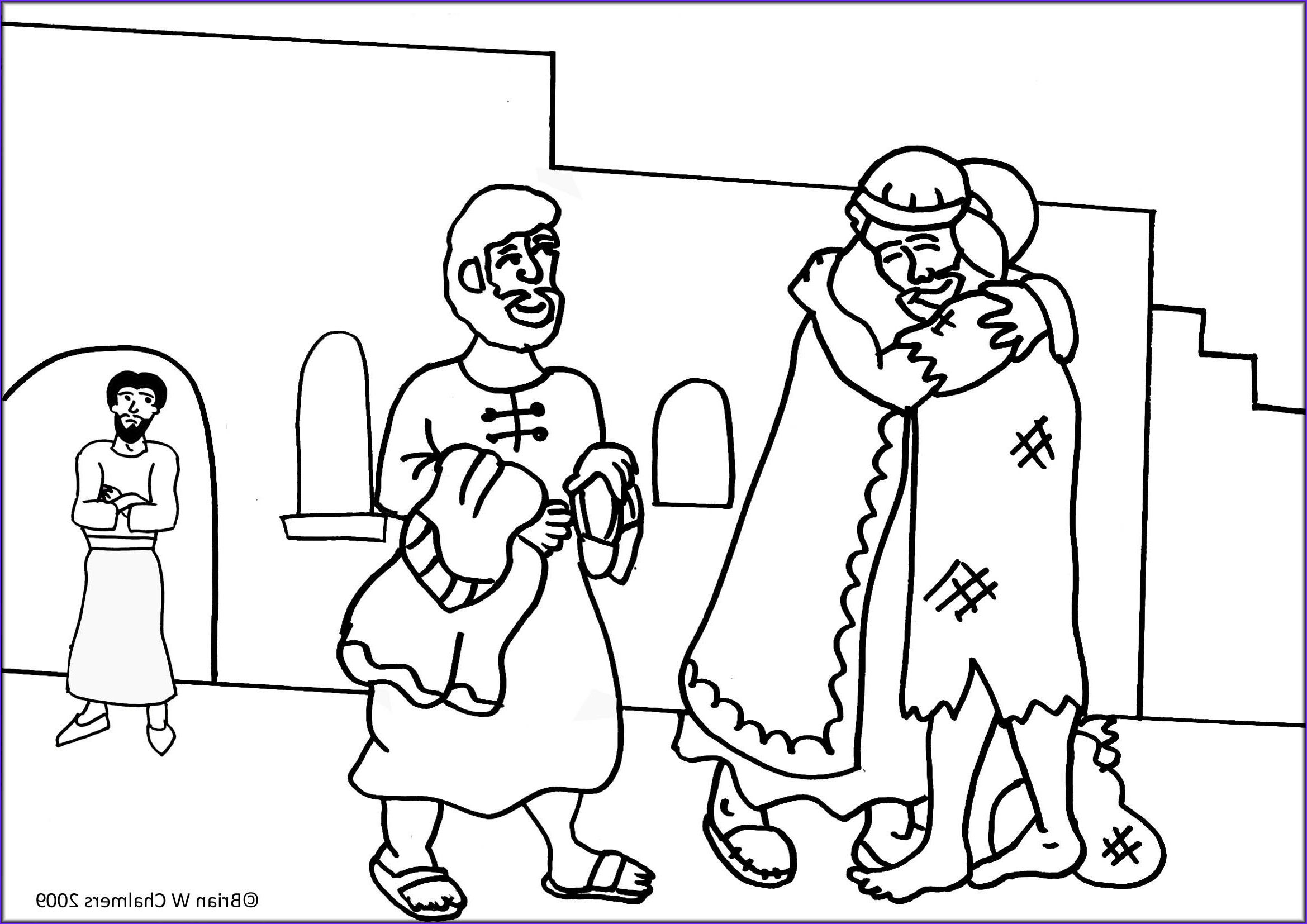 Image Coloring The Prodigal Sonصورة تلوين مثل الابن الضال عودة