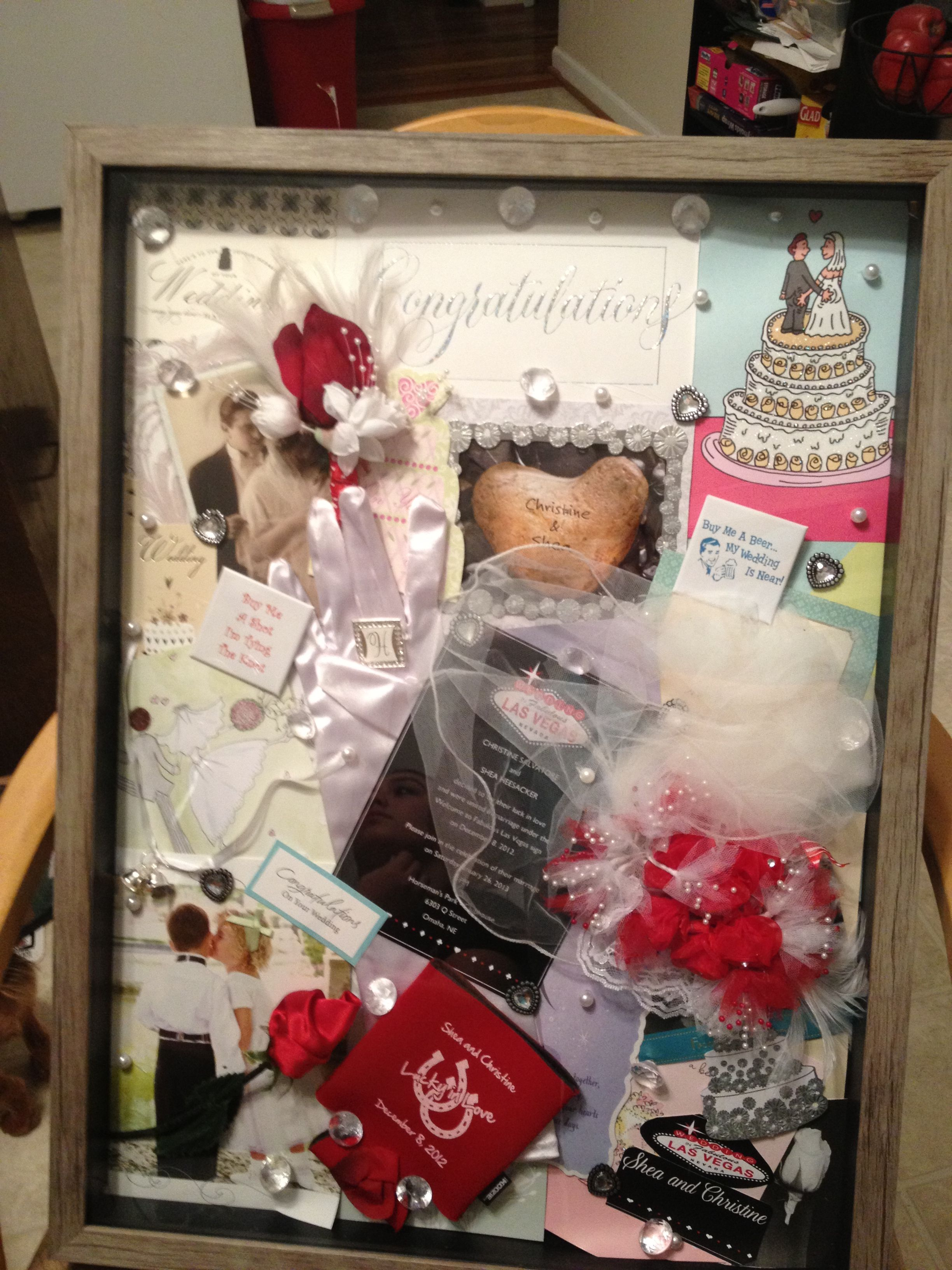 Wedding Shadow Box I Used The Cards From Our Reception As A