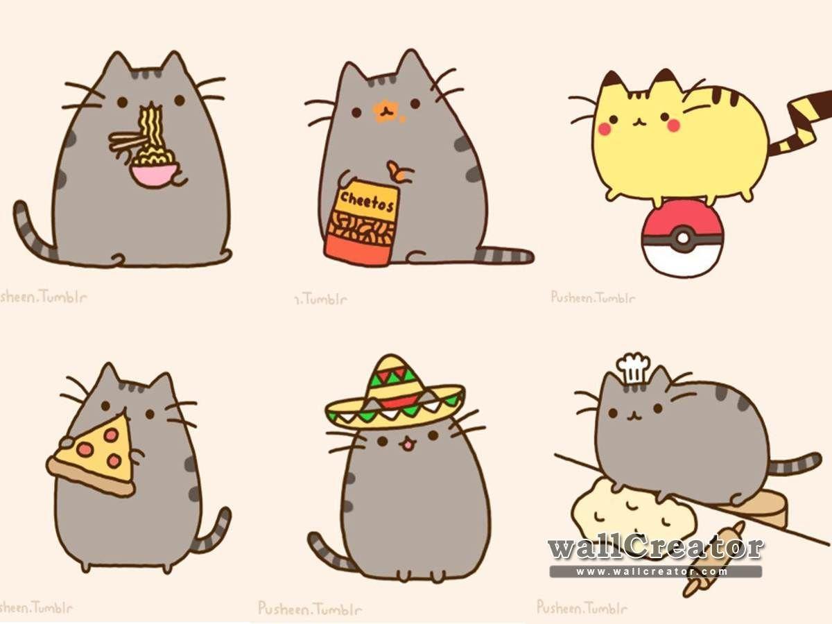 Pusheen Wallpaper 1600 900 Wallpaper Pusheen Cute Pusheen Cat Pusheen