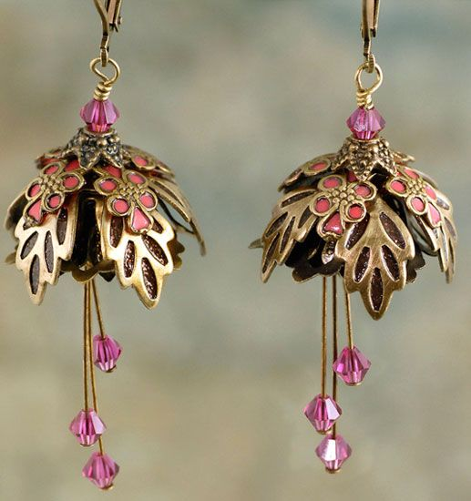 http://www.efairies.com/store/pc/Forest-Fairy-Painted-Earrings-Gold-Brown-and-Pink-255p6746.htm Price $35.95