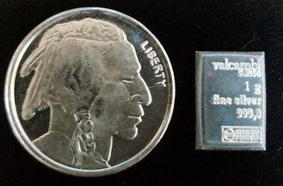 1 10 Oz 999 Pure Fine Silver Bullion Round Buffalo 1 Gram Valcambi Suisse Bar Silver Bullion Silver Coins Gold Bullion