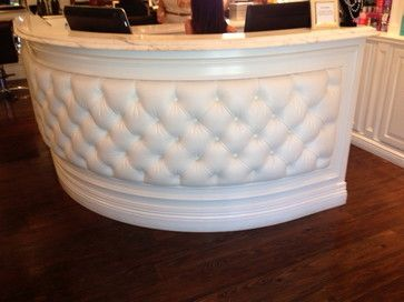 Remodel of Hair Salon traditional entry Salon Reception Desk Reception Areas Spa Design
