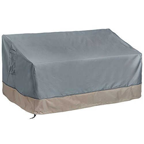 Patio Furniture Covers Vonhaus Bench Loveseat Cover The Storm Collection Premium Heavy Duty Waterproof Outdoor Protection Slate Grey With