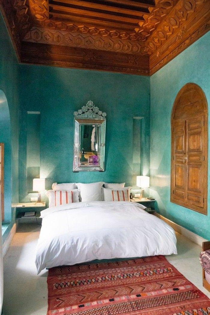 Schlafzimmer In Turkis. Schlafzimmer Türkis Farbe Interiordesign