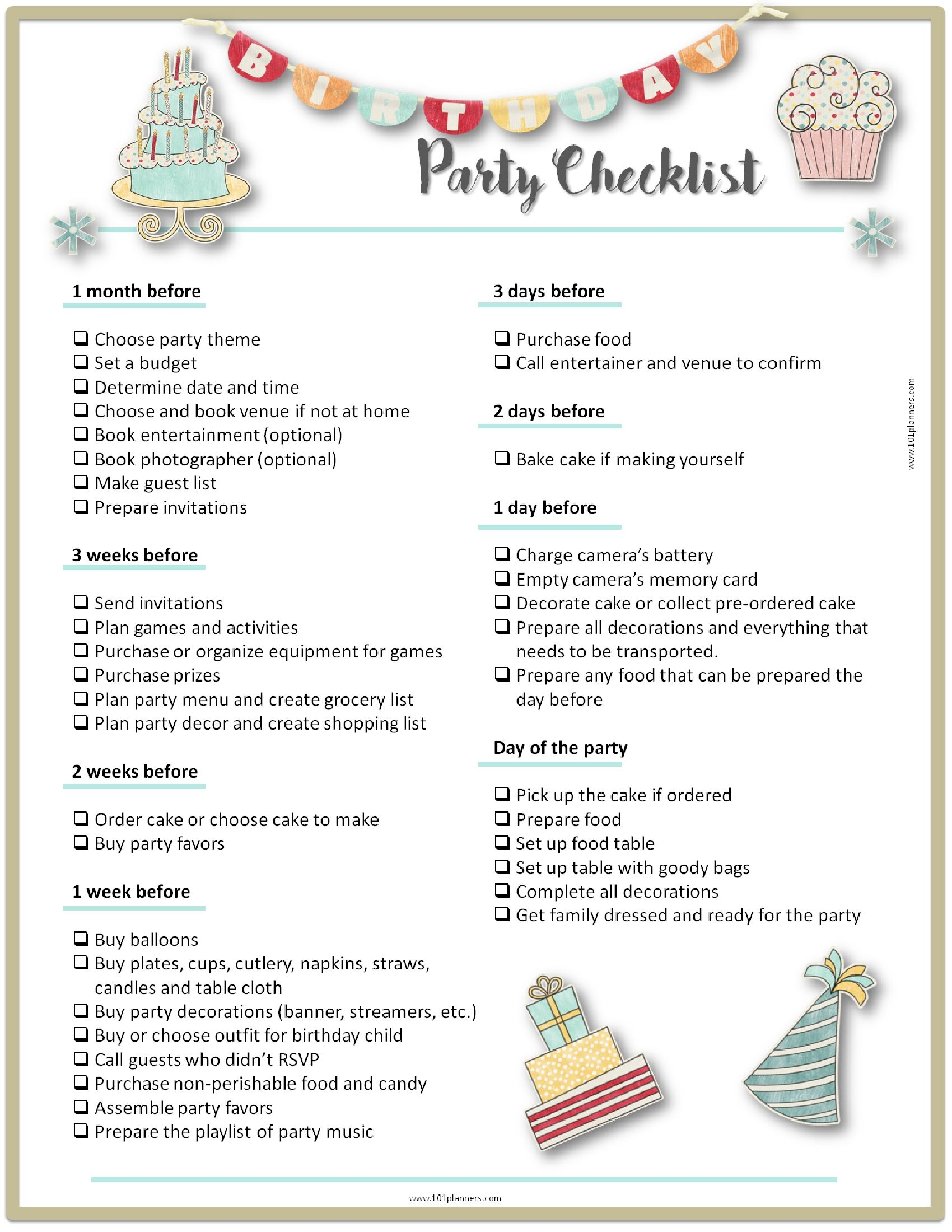 party-planning-checklist.jpg (1700×2200) | Michael\'s B\'day Party ...