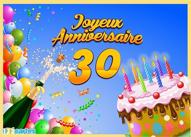 Carte Joyeux Anniversaire 30 Ans Anniversaire Nicolas Joyeux
