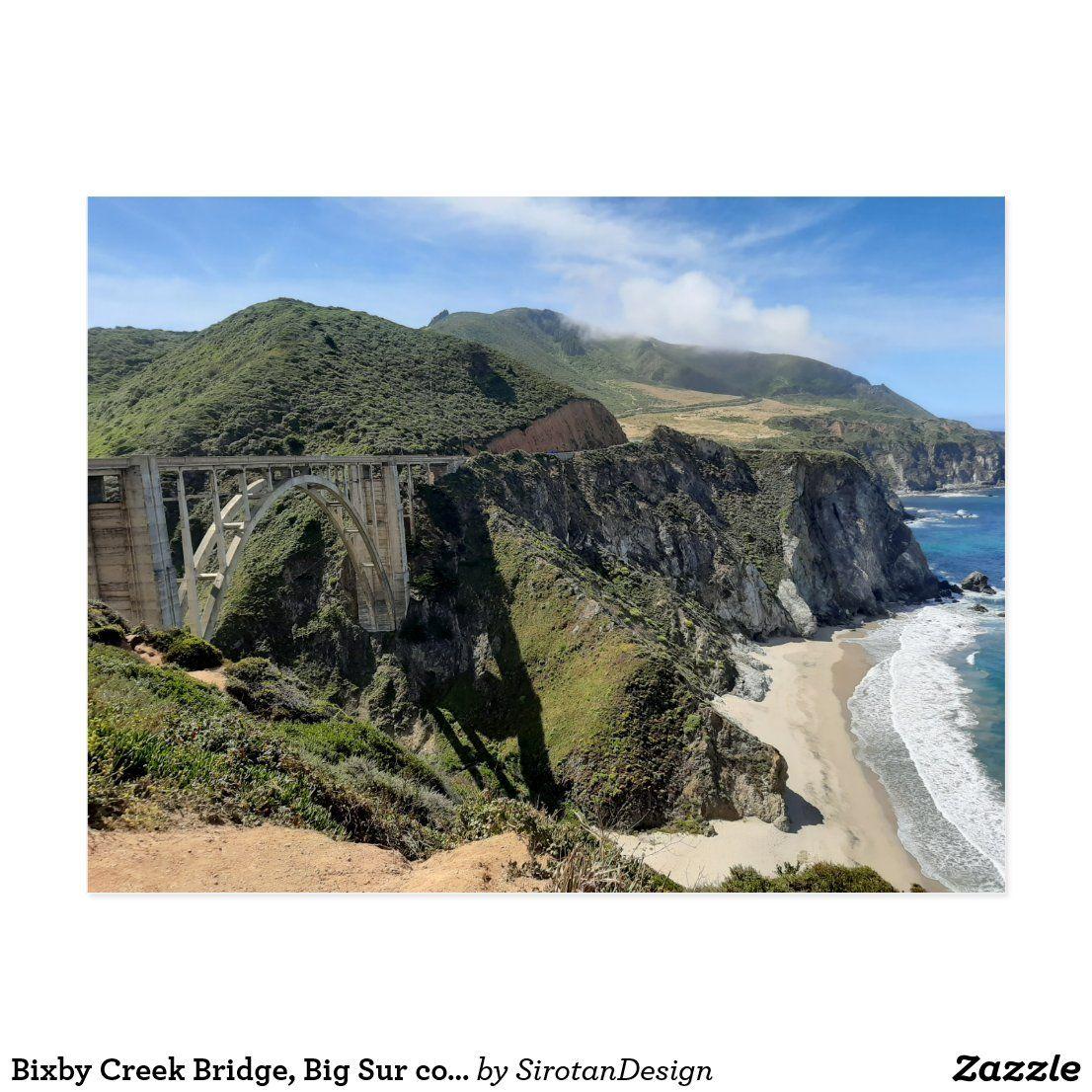 Bixby Creek Bridge, Big Sur coast of California Postcard