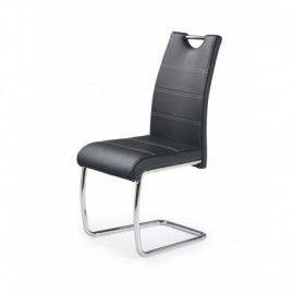 Lot de 2 chaises salle  manger design en PU noir Ingrid