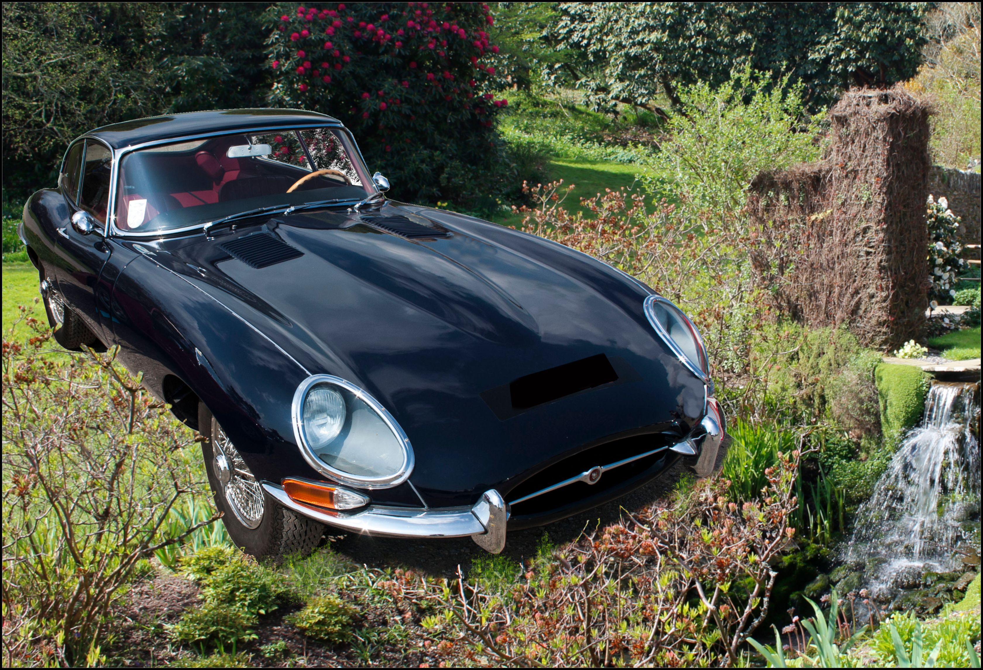Classic E Type Jaguar from 1960s. Jaguar British Sports