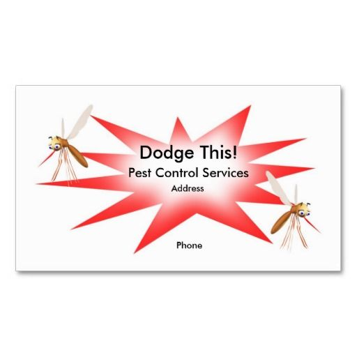 Dodge This! Pest Control Red - Business Business Card