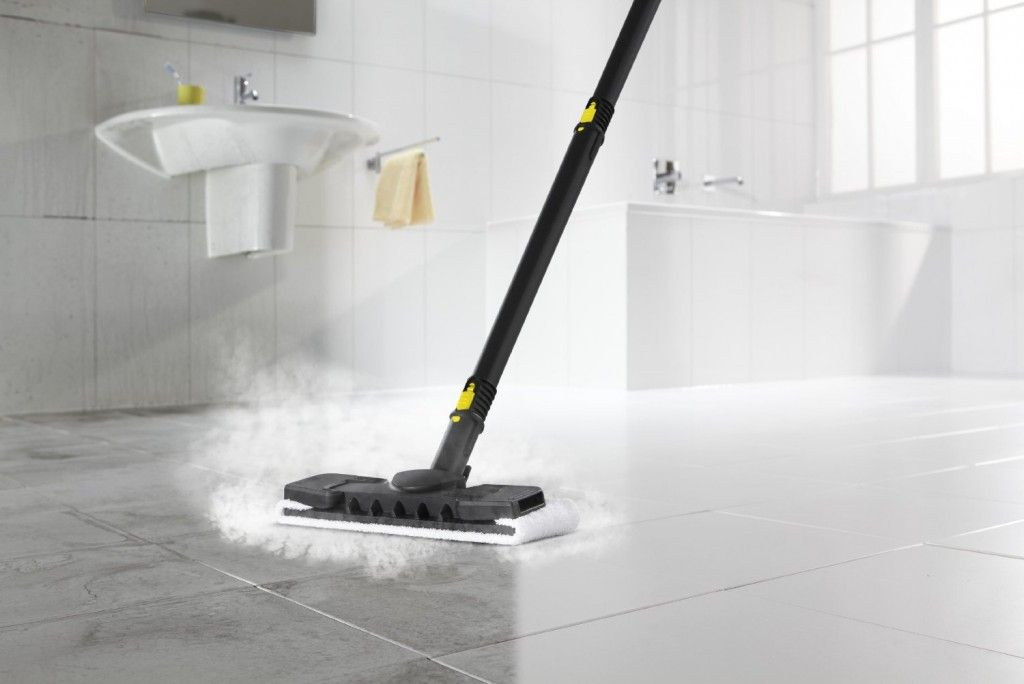 Merveilleux Clean Your Bathroom Floor With A Karcher SC2500 Steam Cleaner
