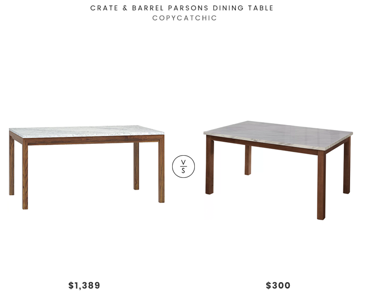 Crate & Barrel Parsons Dining Table $1389 vs Joss & Main Lorna
