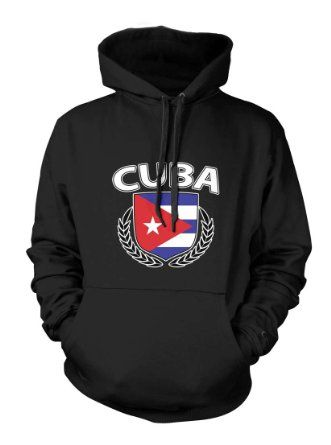 Amazon.com: Cuba Cuban Spanish Country Nation Hispanic Island Pride Proud Men's Size Hoodie Sweatshirt: Clothing