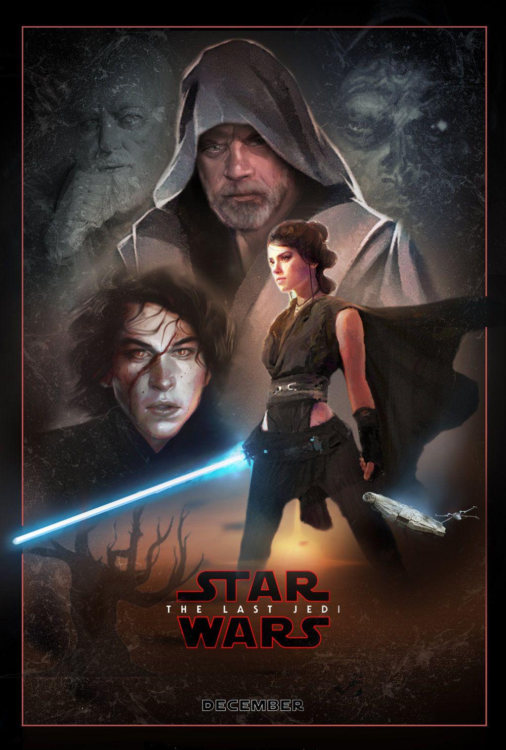 The Last Jedi Poster Wallpaper Best Wallpaper Hd Star Wars Watch Star Wars Episodes Star Wars Sequel Trilogy