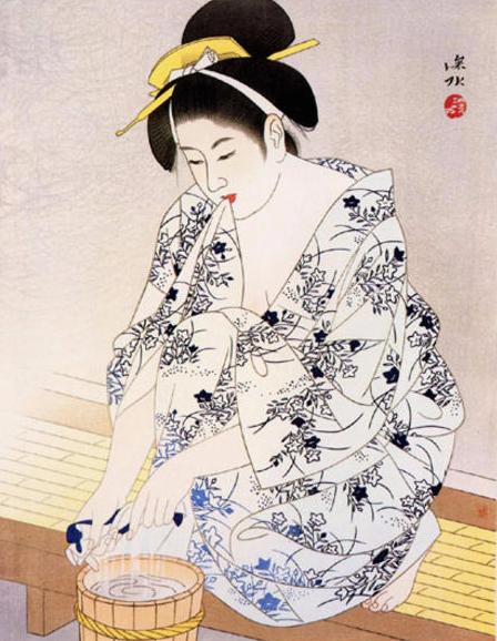 "Itō Shinsui ""A Woman after the Bath"" 1960"