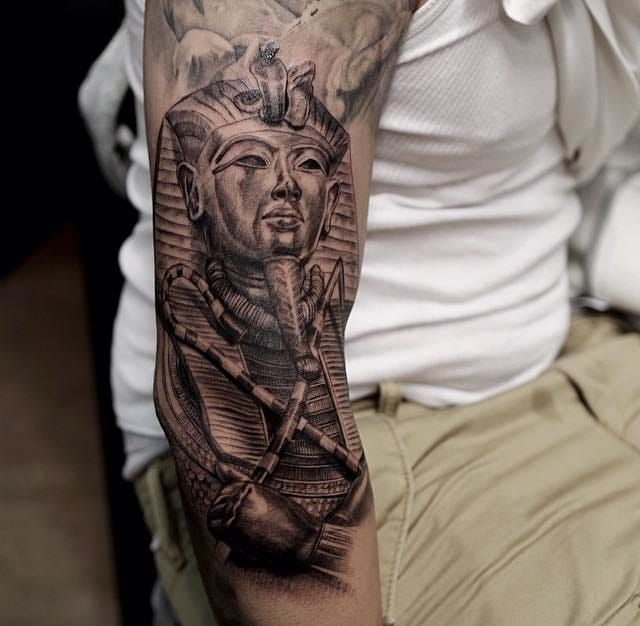 Pin By Mytorius On Believe Tattoo Men: Mysterious Egyptian Mythology Tattoos