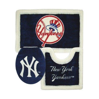39 95 New York Yankees 3 Piece Bath Rugs From Championship Home