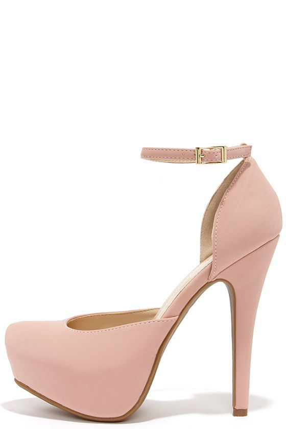 066923fc257 Sweetness and Light Rose Pink Nubuck Platform Heels in 2019 ...