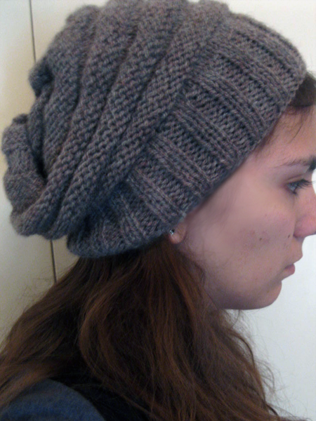 Free Knit Pattern Slouchy Hat Google Search Knit Hats