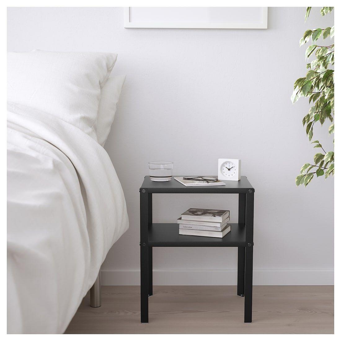 Knarrevik Nightstand Black 14 5 8x11 Ikea Cheap Bedside Tables Small Nightstand Black Bedside Table