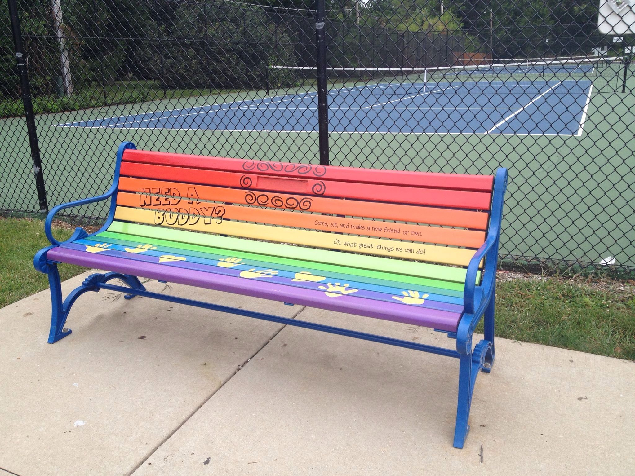 GS higher awards Buddy Bench Need a Buddy e sit and make a