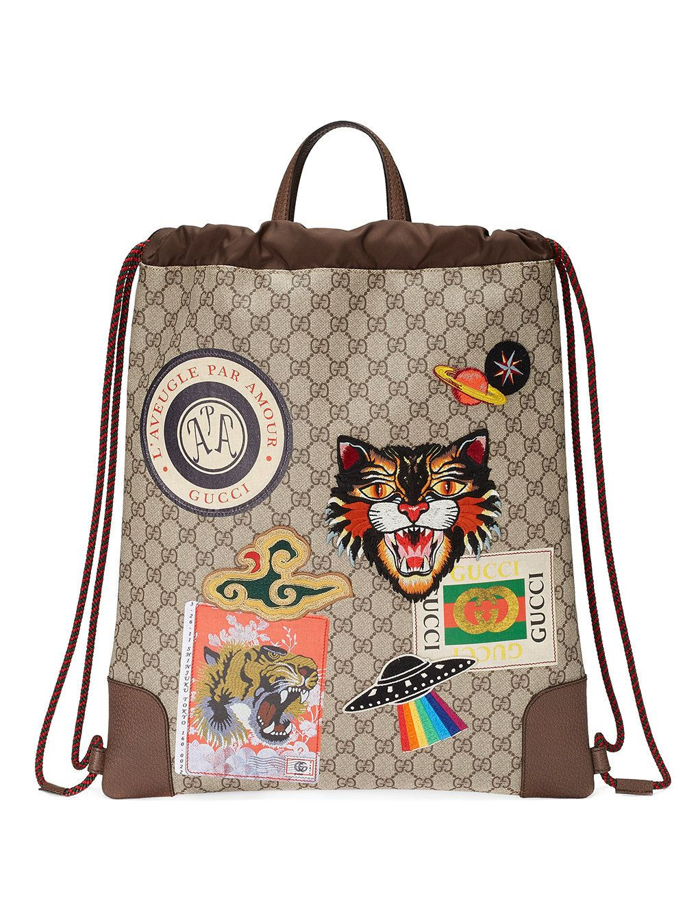 0357da7f1aa9 Gucci Courrier soft GG Supreme drawstring backpack   bags   luggage ...