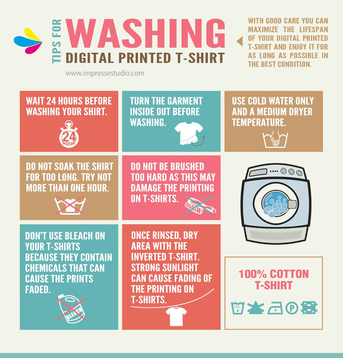 TIPS FOR WASHING YOUR DIGITAL PRINTED TSHIRT. with good