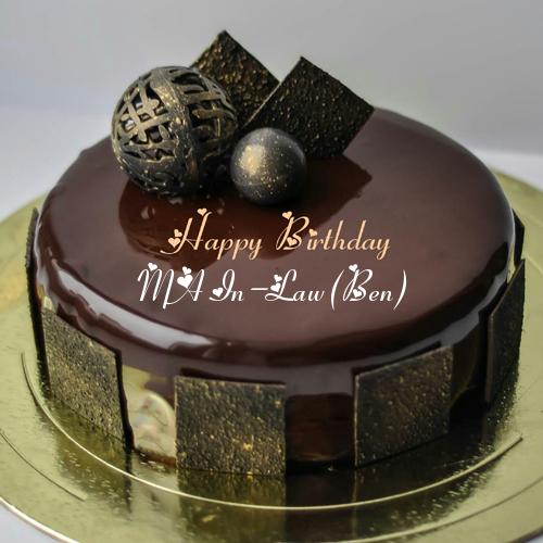 Mirror Glazed Chocolate Birthday Cake With Name On It