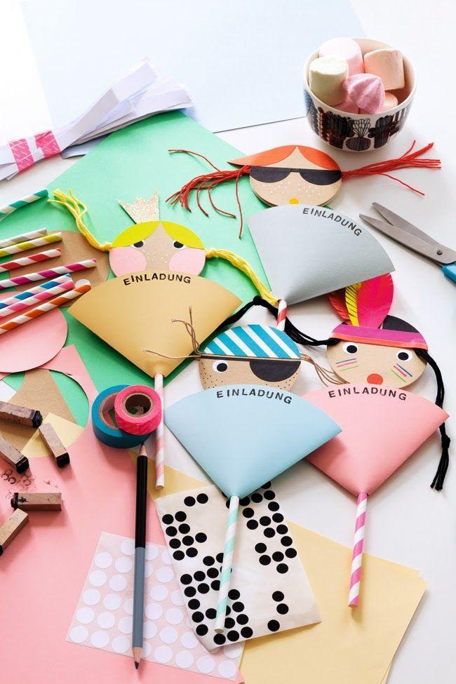 kindergeburtstag einladungskarten selber machen - prinzessin, Einladung