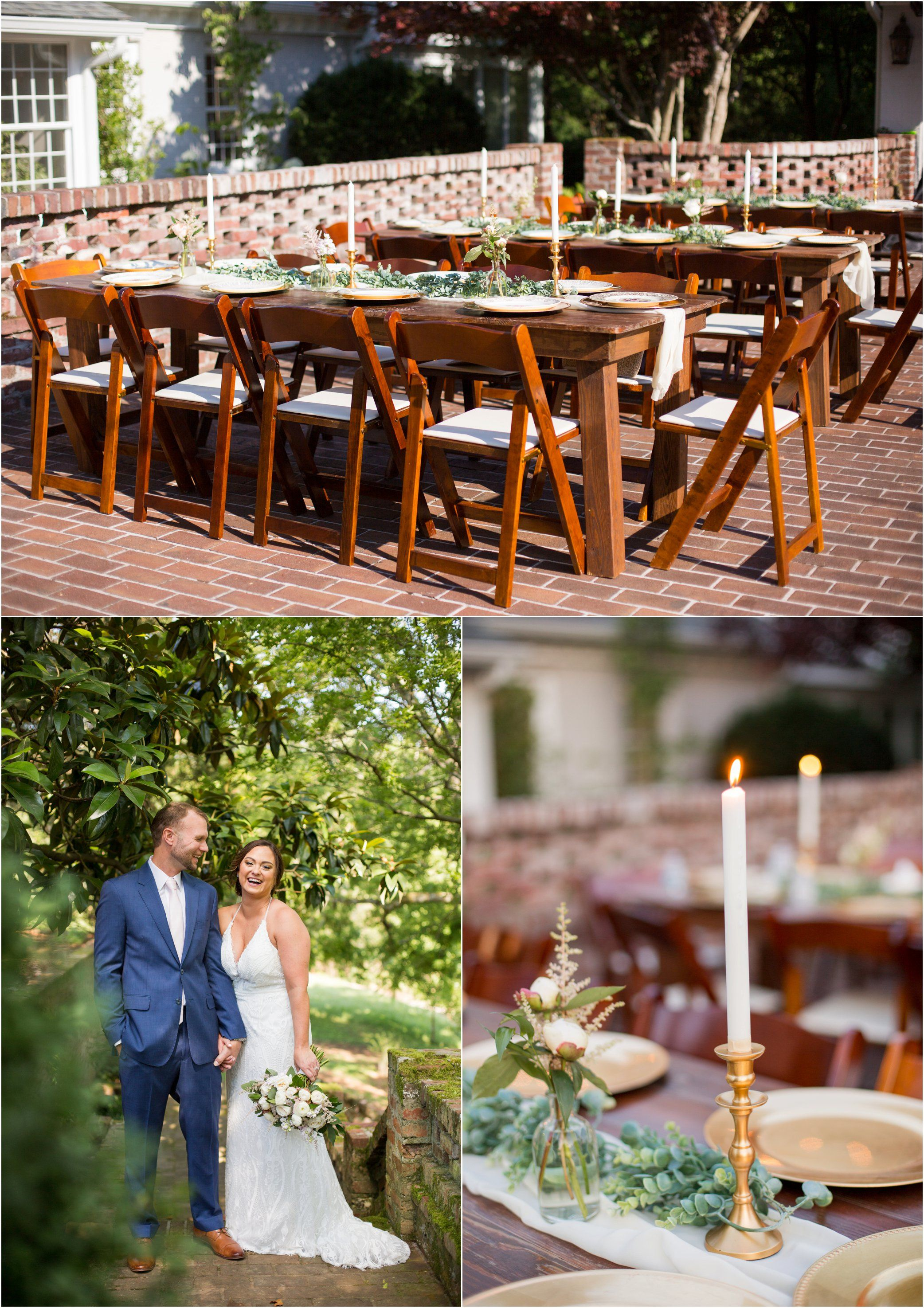Candlelit Reception On The Brick Patio Estate Wedding Venue Candlelit Reception Maple Grove