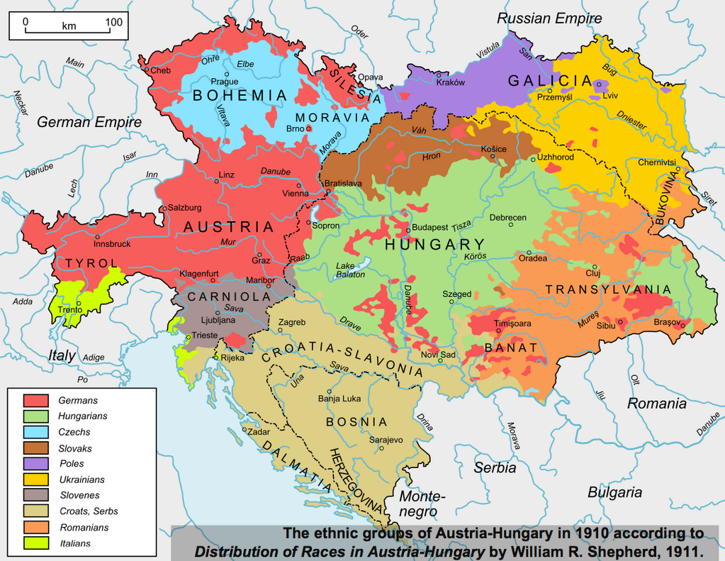 Ethnic breakdown of the Austro Hungarian Empire Maps