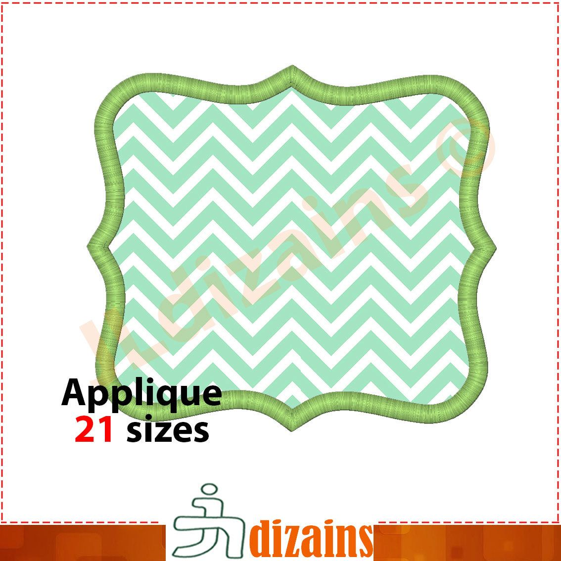 Frame Applique Design Embroidery pattern frame Embroidery applique