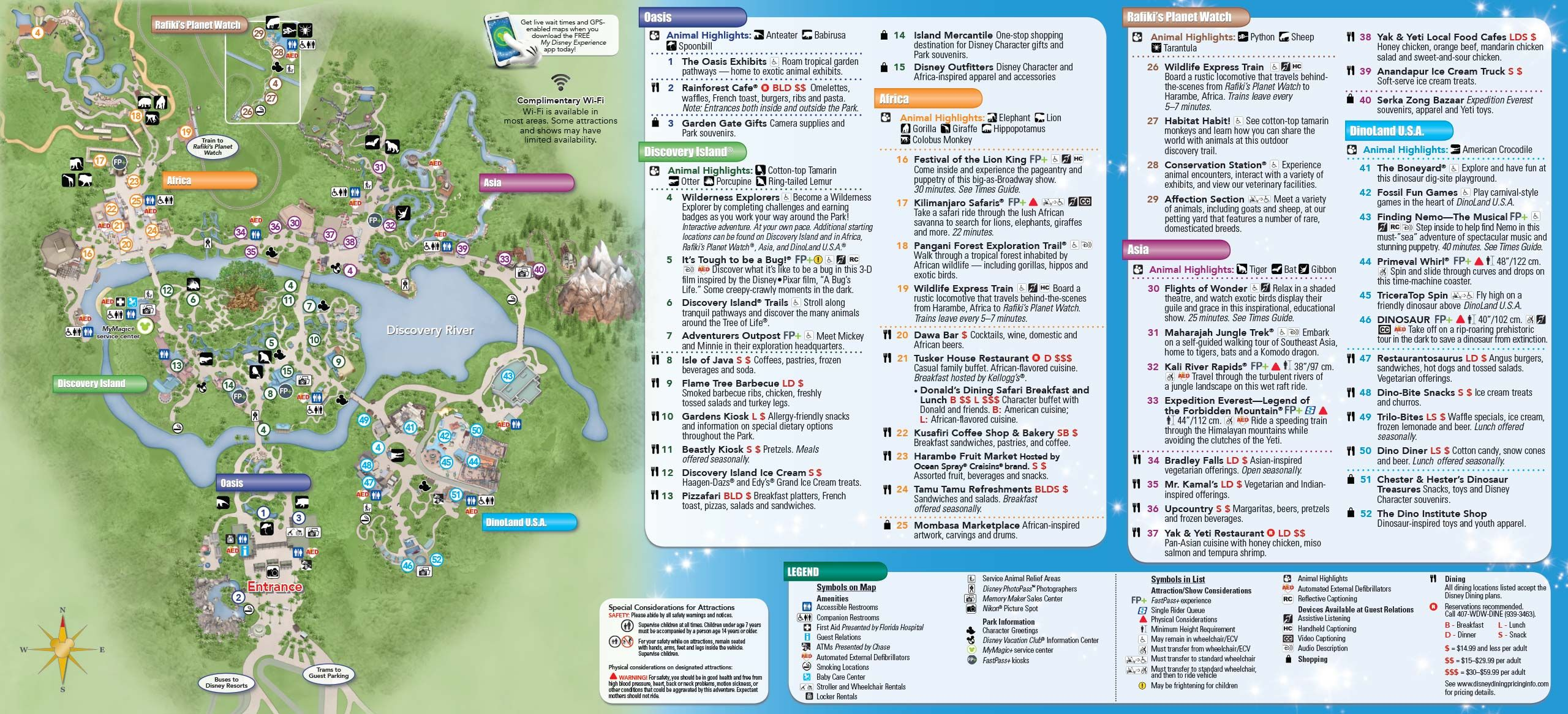 Disney s Animal Kingdom Park Map Animal Kingdom Lodge