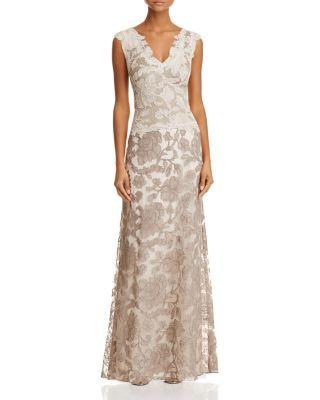 Tadashi shoji two tone lace gown bloomingdales possible dresses tadashi shoji two tone lace gown bloomingdales junglespirit Images