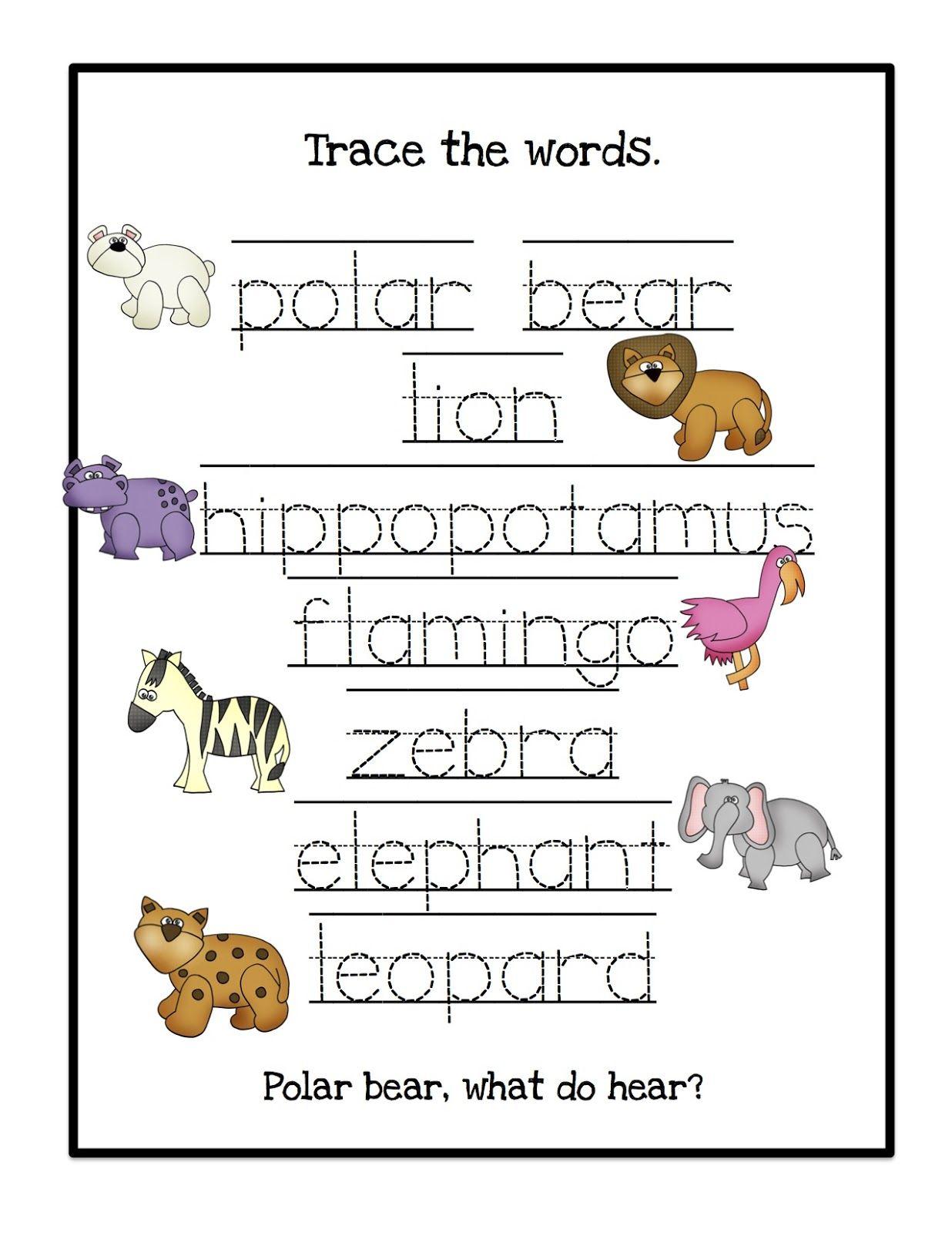 Polar Bear What Do You Hear Printable Preschool