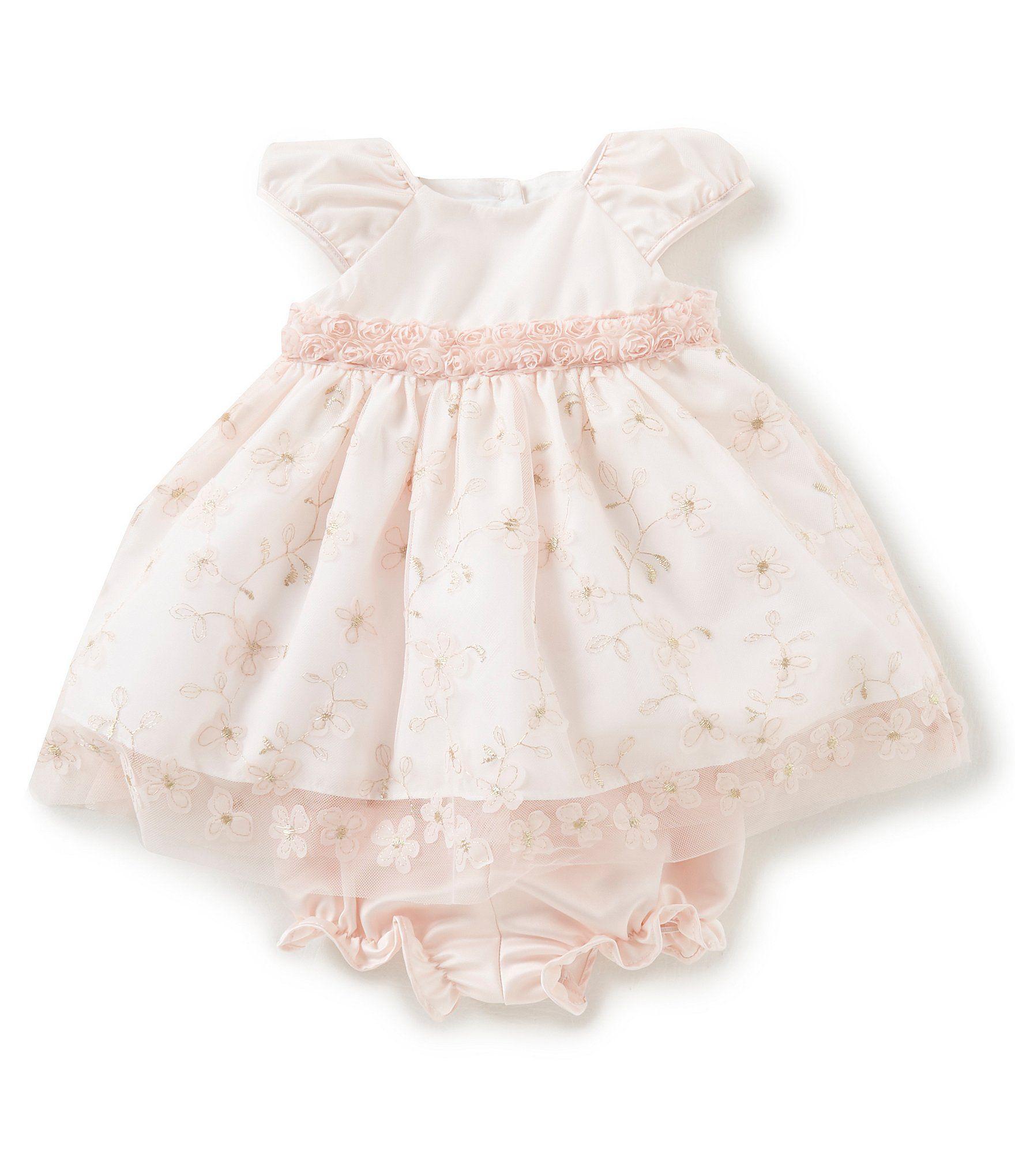 0c2fc02c4 Laura Ashley London Baby Girls Newborn24 Months FloralOverlay Dress # Dillards