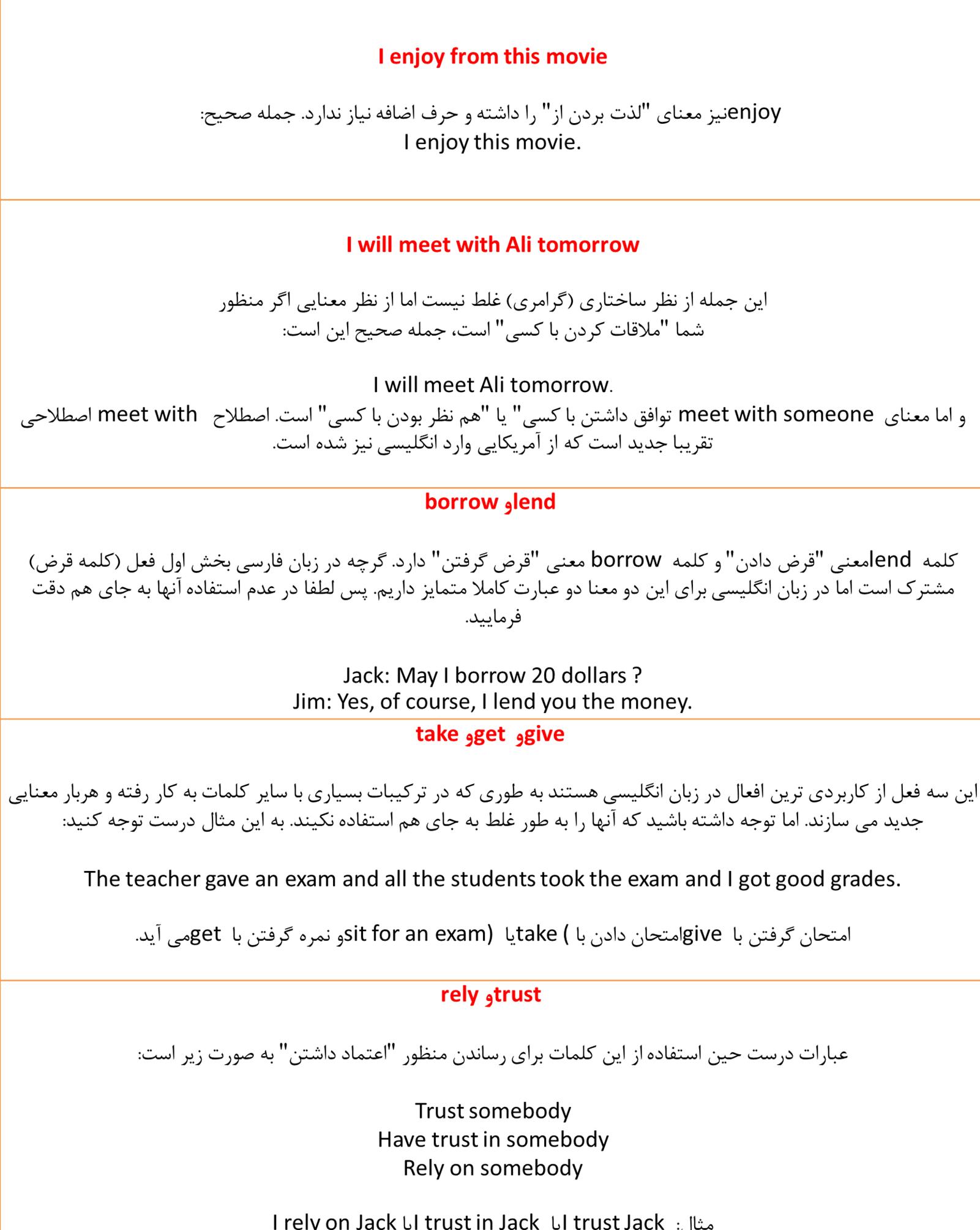 اشتباهات رایج در زبان انگلیسی آموزش زبان انگلیسی در تهران تقویت مکالمه انگلیسی آیلتس Ielts English Language Teaching Learn English Vocabulary English Study