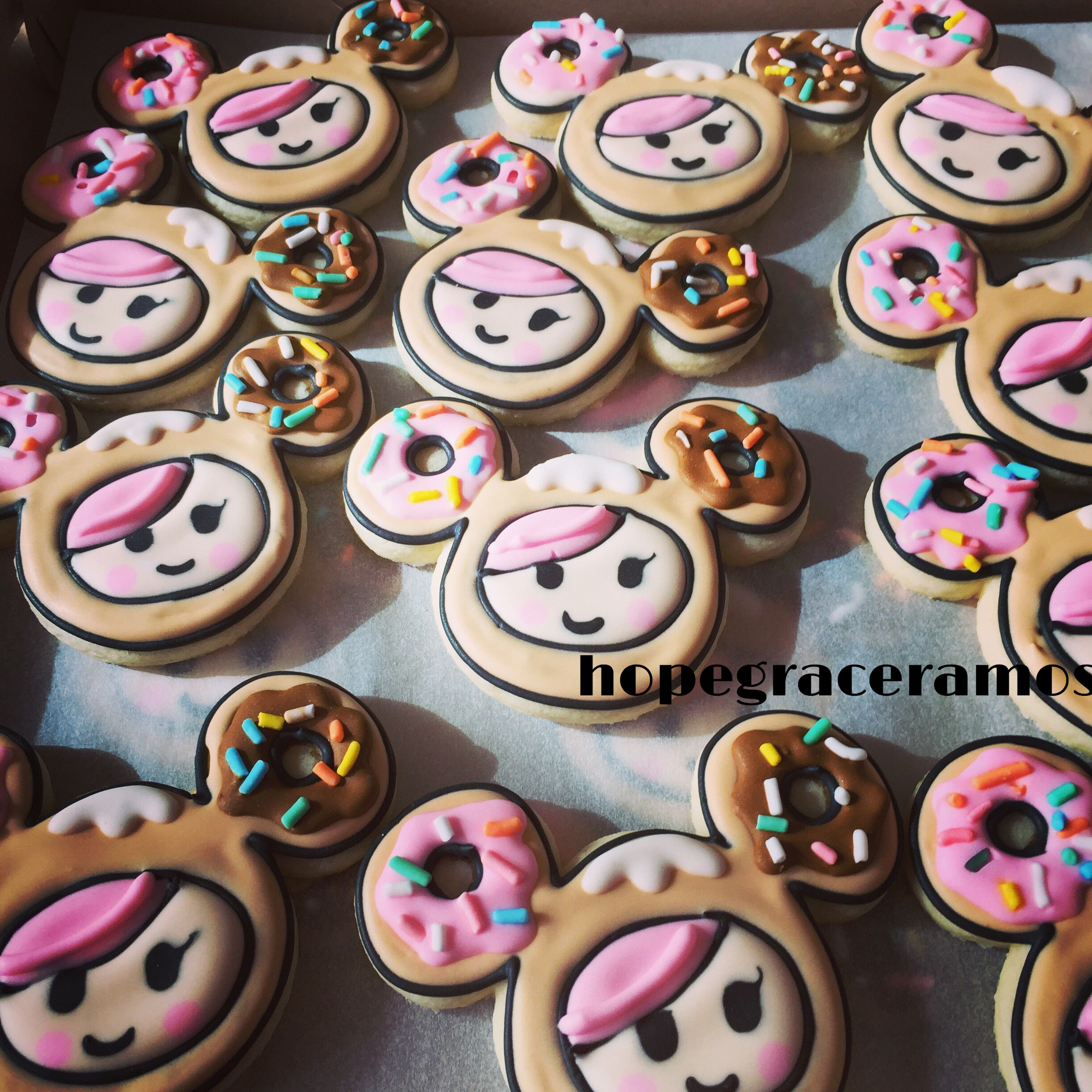 tokidoki cookie favors had these donutella cookies made for my daughter hannahs party shes - Tokidoki Donutella Coloring Pages