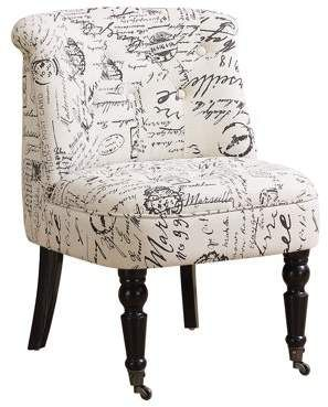 Monarch Accent Chair Traditional Style Vintage French Fabric